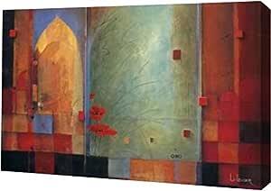 """PrintArt GW-POD-29-8841-36x24 """"向印度传递""""由 Don Li-Leger Gallery Wrapped Giclee 油画艺术印刷品 24"""" x 16"""" GW-POD-29-8841-24x16"""
