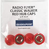 Quadrapoint Radio Flyer Classic Walker Wagon 轮毂盖 - 适合 1/4 轴直径,红色 4 只装