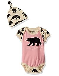 Hatley LBH 女婴 0-24m 婴儿连衣裙,带帽子心形和马图案连体衣