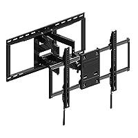 朝日木加工 电视壁挂式金属挂件 桌面支架 FIT MOUNT 全景运动款 黑色 42型~86型 FLM-006-BK