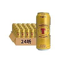 英国进口啤酒Tennent's替牌500ml/听装英国进口拉格听装啤酒精酿啤酒 (24听整箱)