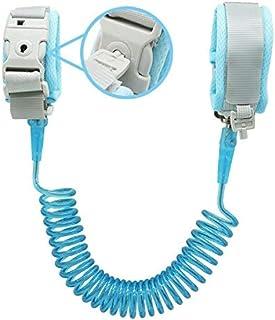 Socub 儿童防丢手腕链,带钥匙锁 蓝色 8.2ft Blue