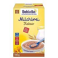 Bebivita 貝唯他 無糖牛奶粥 適用于8月以上嬰兒 牛奶可可味,4盒裝(4 x 500g)