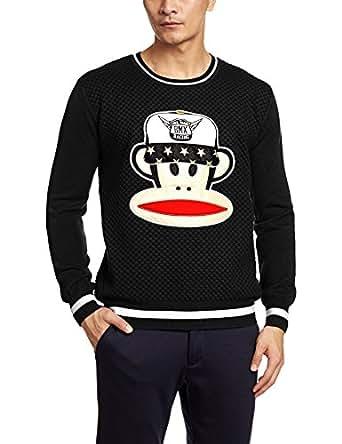 【官方正品】Paul Frank 大嘴猴 男式 套头针织衫 PFASW154610M 黑色 M