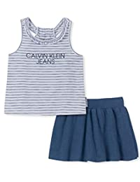 Calvin Klein 女童 2 件套短裤套装