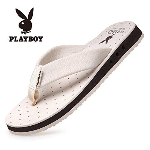 PLAYBOY 花花公子 夏季人字拖男防滑个性沙滩鞋夹脚托鞋潮夏天防滑凉拖鞋