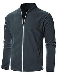 GIVON 男式修身轻质全拉链开襟羊毛衫,内部柔软面料