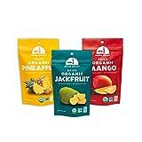 Mavuno Harvest 直接贸易多种水果干什锦包,芒果,菠萝和菠萝蜜,3件
