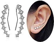 MSECVOI 7 水晶耳环 Climber S925 纯银耳环 低*性耳环