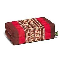 Kapok Dreams 冥想垫子和瑜伽道具,35.56x22.86cm(超宽!) * 天然 Kapok 填充物,红色大象设计