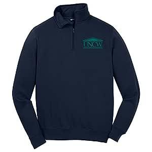 Campus Merchandise NCAA 北卡罗来纳州威尔明顿海鹰队男式 1/4 拉链套头衫,S 码,*蓝