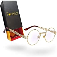 Quavo Glasses/igos 男士眼镜。 金色蒸汽朋克眼镜就像猎鹰眼镜