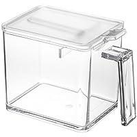 YAMAZAKI home 2869 塔式香料储藏盒–厨房食物储藏库,大,透明