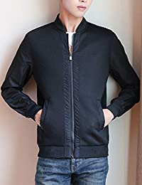 Goralon 2018秋季新款韩版飞行员棒球服男士外套休闲上衣男夹克衫 拉链男式外衣男夹克外套