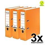 Falken PP 彩色塑料文件夹3件和5件装 3er Pack breit 橘色
