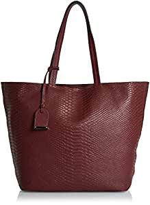 Kenneth Cole Reaction 女式 休闲蛇纹购物袋 K33381/20 深丹宁色 均码(亚马逊进口直采,美国品牌)