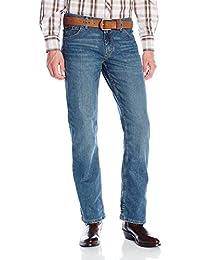 Wrangler 男式 20X 高级舒适舒适紧身直筒牛仔裤