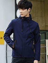 Goralon 男士外套秋季2018韩版潮流帅气运动外套男休闲连帽夹克薄款外衣男式上衣外套