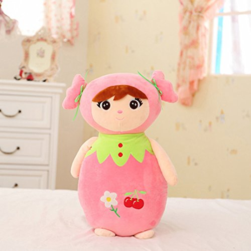 爱萌兔 水果小女孩毛绒玩具公主布娃娃抱枕婚庆结婚礼品儿童生日礼物
