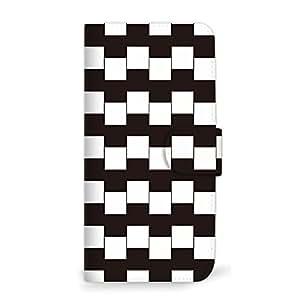 MITAS 智能手机保护壳翻盖型错觉黑白  A 1_iPhoneSE (iPhoneSE)