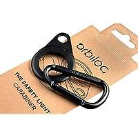Orbiloc 登山扣高级铝制快速调节 D 环扣钩带双狗灯座,适用于户外散步、远足和露营,黑色