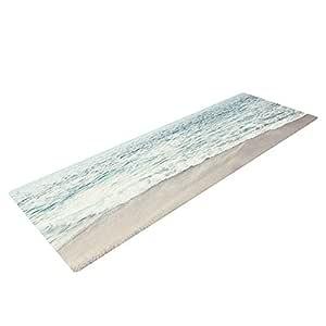 Kess InHouse Monika Strigel The Sea 瑜伽运动垫,蓝色海岸,72 x 24 英寸