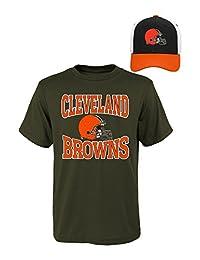 NFL 青年男孩短袖 T 恤和帽子套装