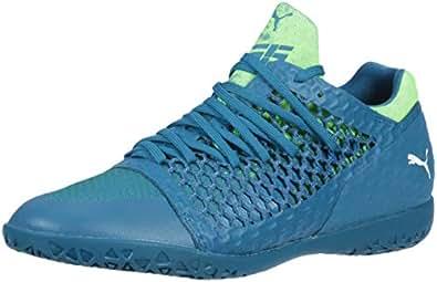 PUMA 男士 365 Netfit Graphic Ct 足球鞋 Deep Lagoon-puma 白-绿壁虎 9 M US
