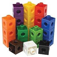 Edx Education Linking 魔方 - 一套 100 個 - 0.8 英寸大尺寸 - 連接積木用于建筑和早期數學的積木 - 適合 3 歲以上兒童