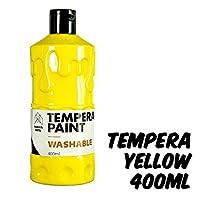 Markin Arts 充满活力的彩色*无酸零*水基可洗手指玩具绘画彩蛋彩画幼儿园基本课学生儿童*大号400毫升瓶 黄色 黄色 TPR-L-001-YLW