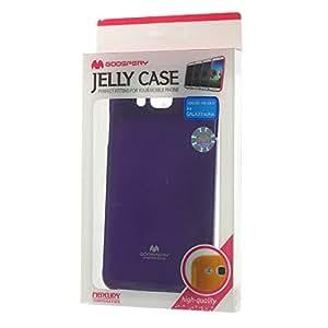 JUJEO Purple Glitter Powder Soft TPU Case for Samsung Galaxy Alpha SM-G850F SM-G850A - Skin - Non-Retail Packaging - Purple