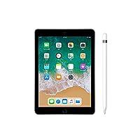 【2018新款套装】Apple iPad 平板电脑 9.7英寸 WiFi版 128G 深空灰 (A10 芯片/Retina显示屏/Touch ID MR7J2CH/A)套装 搭配 苹果 触控笔 Apple Pencil 正品国行 顺丰发货 可开专票