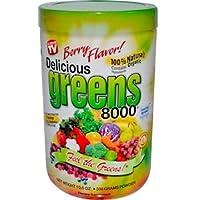 Greens World, 美味Greens 8000多种绿色食物粉,浆果味,10.6盎司(300克)