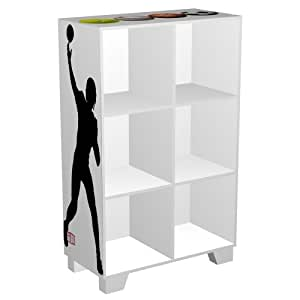 NCAA Sports 6-Cube Storage Organizer, One Size, White