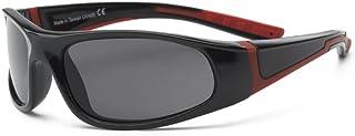 RKS 美国 防紫外线男童女童宝宝儿童太阳镜 偏光款 建议7岁以上(闪电)黑色+红色