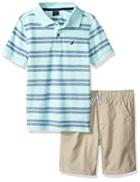 Nautica 套装 (KHQ) 男孩 2 件套 Polo 短裤