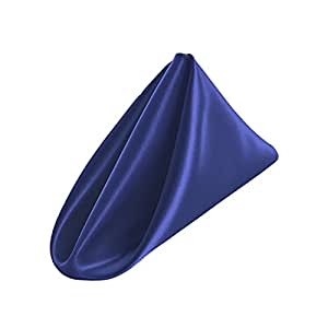 LA Linen 10 条装新娘缎餐巾 45.72 x 45.72 厘米 皇家蓝 18 by 18-Inch 1818bridal_10PkRoyalB50