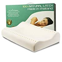 伊可莱ECOLIFELATEX 泰国进口乳胶枕 高低枕 护颈枕 PT3S(平滑低款8-10cm)  [新老包装交替 随机发货] (亚马逊自营商品, 由供应商配送)