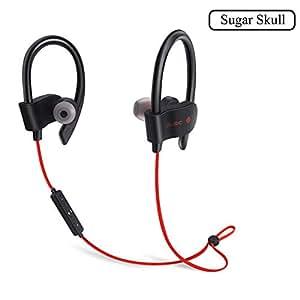 无线蓝牙耳机颈带舒适消噪防汗耳机适用于跑步和健身房兼容三星 iPad 或蓝牙设备 yellow-337