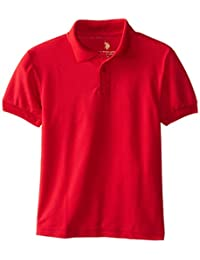 U.S. Polo School Uniform Little Boys' Short Sleeve Pique Polo