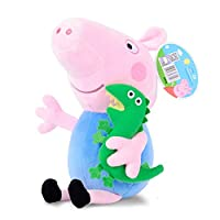 Peppa Pig 小猪佩奇 <啥是佩奇> 小猪佩奇乔治毛绒公仔玩具 高30cm(亚马逊自营商品, 由供应商配送)