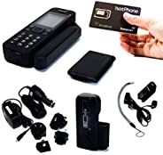 SATAMAZONE 卫星电话包 - INMARSAT IsatPhone 2 手机 + SIM 卡 - 全球覆盖 - 电话、短信、电子邮件 GPS、在线跟踪和紧急情况