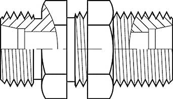 Adaptall 5040S-06 系列 5040S 碳钢直重型隔板适配器,M14X1.5 公头DIN 管 x M14X1.5 公头DIN 管,碳钢,M14X1.5 x M14X1.5