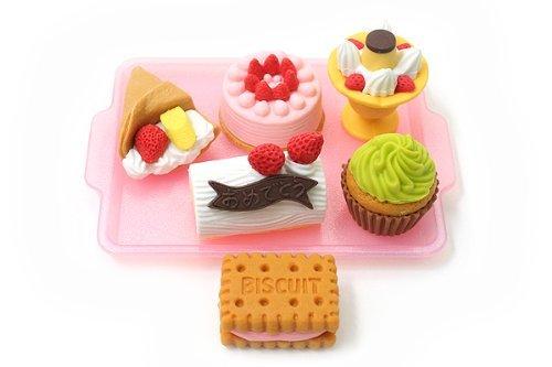 【美国亚马逊】  可爱!iwako岩泽安全橡皮造型甜点拼盘