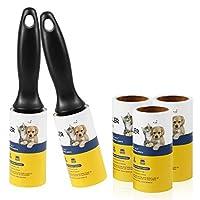 Lint Roller 宠物毛发去除剂超粘性绒毛胶带滚筒,适用于狗狗猫毛皮 - 5 件装