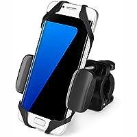 Flexzion 通用自行车手机支架可调节 - 车把支架夹,适用于自行车摩托车智能手机设备划船 GPS 适合 iPhone 7 Plus 三星 360 度可旋转橡胶带