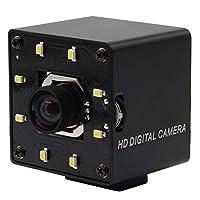 4K 自动对焦 USB 网络摄像头,迷你金属外壳白色 LED 摄像头适用于日夜,超高清 30fps 带索尼 IMX415 传感器,广角无失真镜头摄像头,USB 电脑网络摄像头支持大部分 OS/UVC 协议