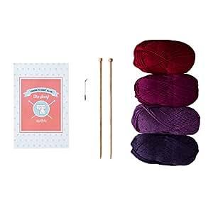 Learn to Knit Club,2级:围巾 宝石色 44458