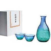 东洋佐佐木玻璃 蓝* 珊瑚海 酒杯 日本制造 蓝* 約20×19×12cm G604-M77