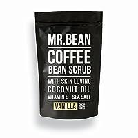 Mr. bean 身体护理有机*咖啡豆磨砂膏带椰子油维生素 E  Sea salt 和 cacao?–?caffeine based 去角质膏适用于 moisturized 光滑健康和 rejuvenated firm skin